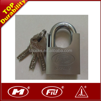 Fili Arc Shackle Wrapped Padlock With All Brass Cylinder&3 Keys ...