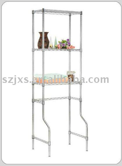 Wire bathroom shelving Closestool shelf,chrome finished Toilet shelving for bathroom use