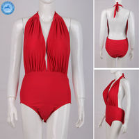 Wholesale Swimsuit Of Red Xxl Six Open Hot Sexy Girl Photo For Swimwear Women