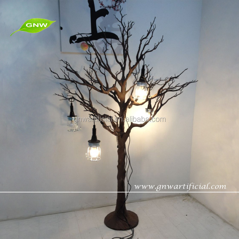 Gnw btr wholesale wooden artificial white tree with
