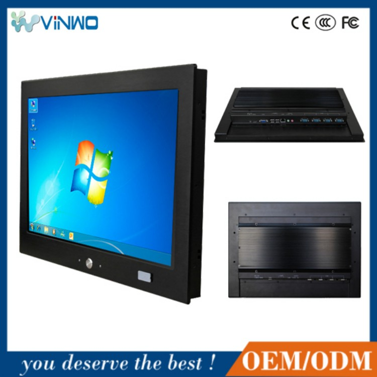 ip65 aluminum widescreen fanless panel pc, thin client, 4u embedded industrial computer