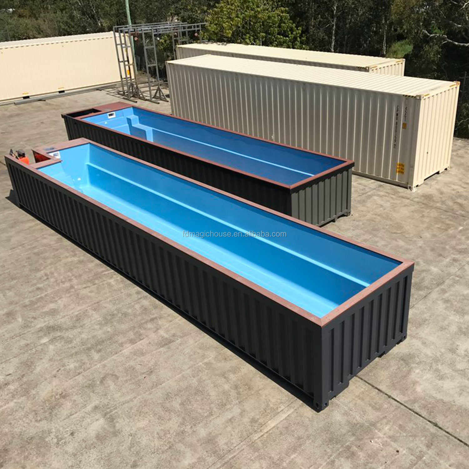 2019 New Design Factory Sale Shipping Container Swimming Pool Cost 20ft  40ft Portable Sea Container Pools - Buy Shipping Container Pool,Shipping ...