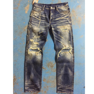 latest brand name jeans destroyed jeans pants mens selvedge denim jeans