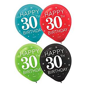 Get Quotations Happy 30th Birthday Decorations Party Balloons Collection Set Of 30
