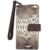 Wholesale White Color Python Snake Skin Leather Credit Card Holder Charging Wallet