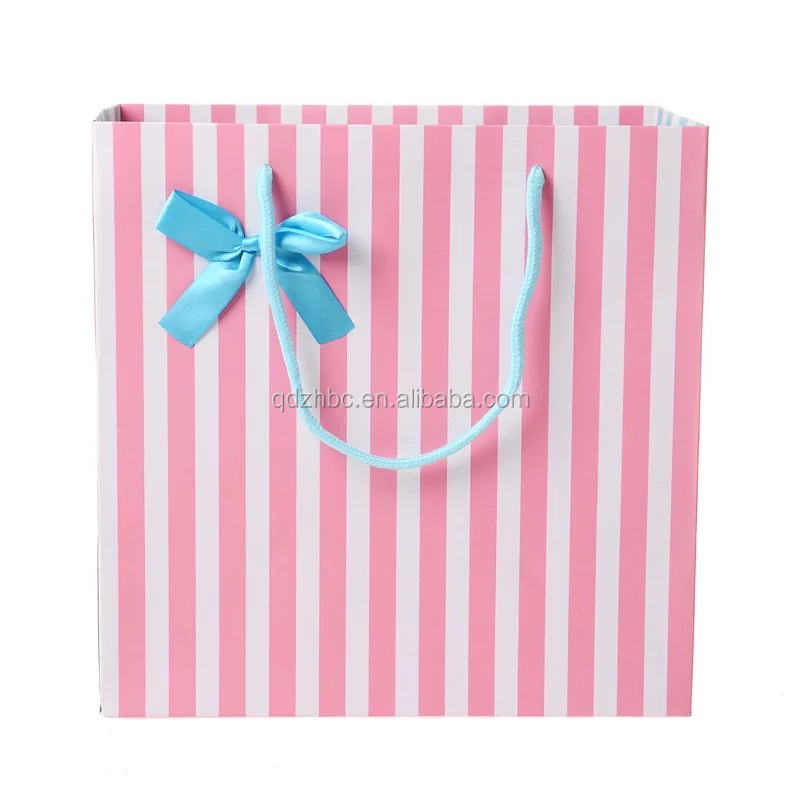 Custom luxury shopping bags with logos shopping gift bags with bows