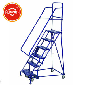 Chinese Supplier Security Steel Ladder, Step Ladder, Rolling Ladder