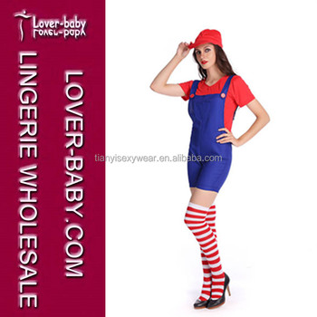 sale halloween adult kids funny cosplay women plumber costumes
