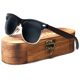Ablibi Bamboo Wood Semi Rimless Sunglasses with Polarized Lenses in Original Boxes