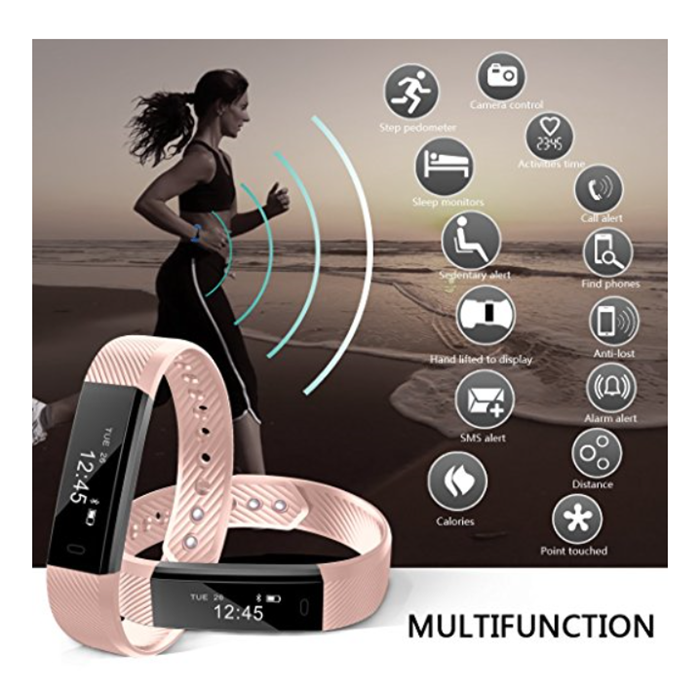 ID115 Smart Bracelet Fitness Tracker Pedometer Activity Monitor Smart Band