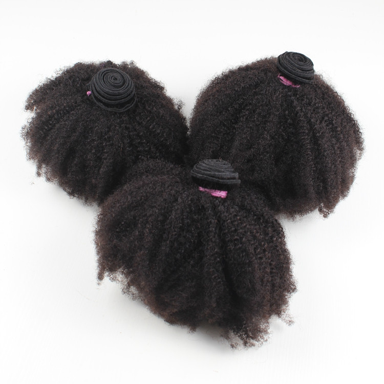Import direct from India,Indan afro curly remy 100 human hair with bundles
