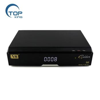 Freesat V8 Golden Support Powervu Biss Key Cccam Iptv Dvb-t2 Dvb-s2 Dvb-c  Satellite Receiver Dvb T2 S2 Decoder Cable Receptor - Buy Freesat V8
