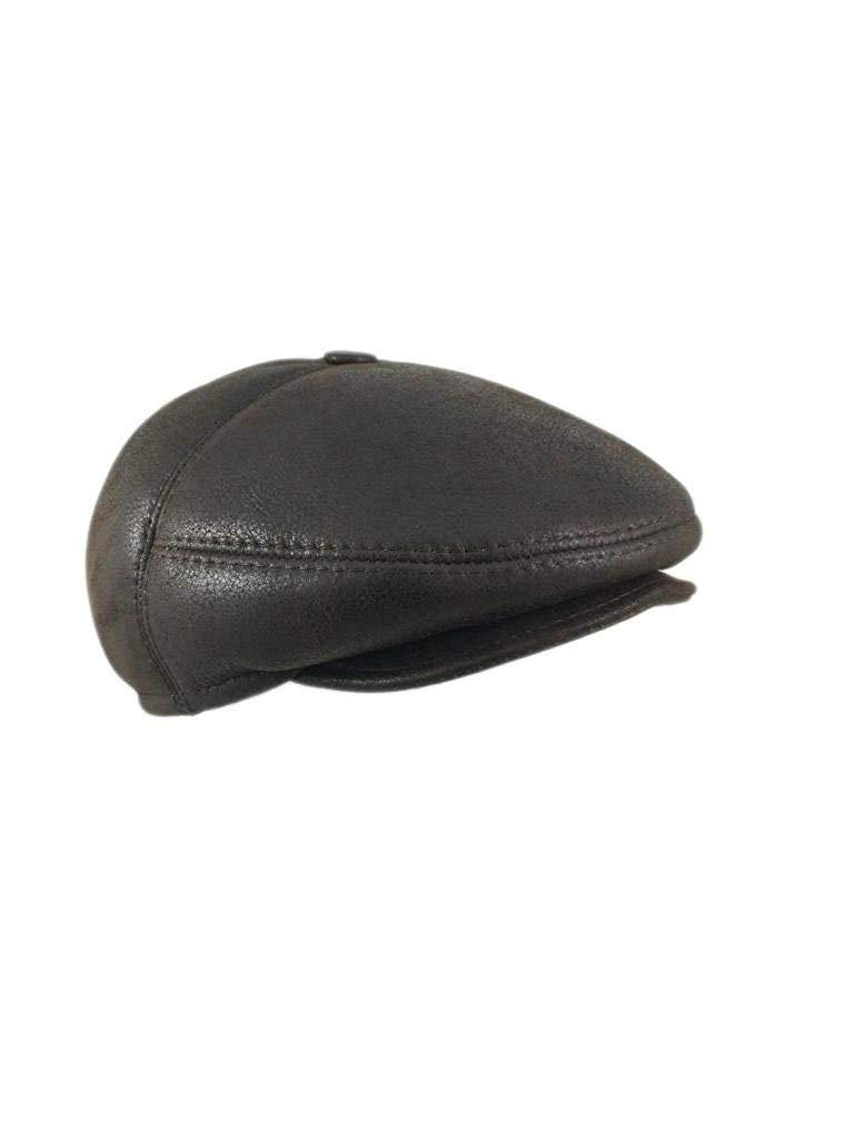 206e41b9a82b58 Get Quotations · Zavelio Women's Leather Shearling Sheepskin 5 Panel Ivy  Driving Cap