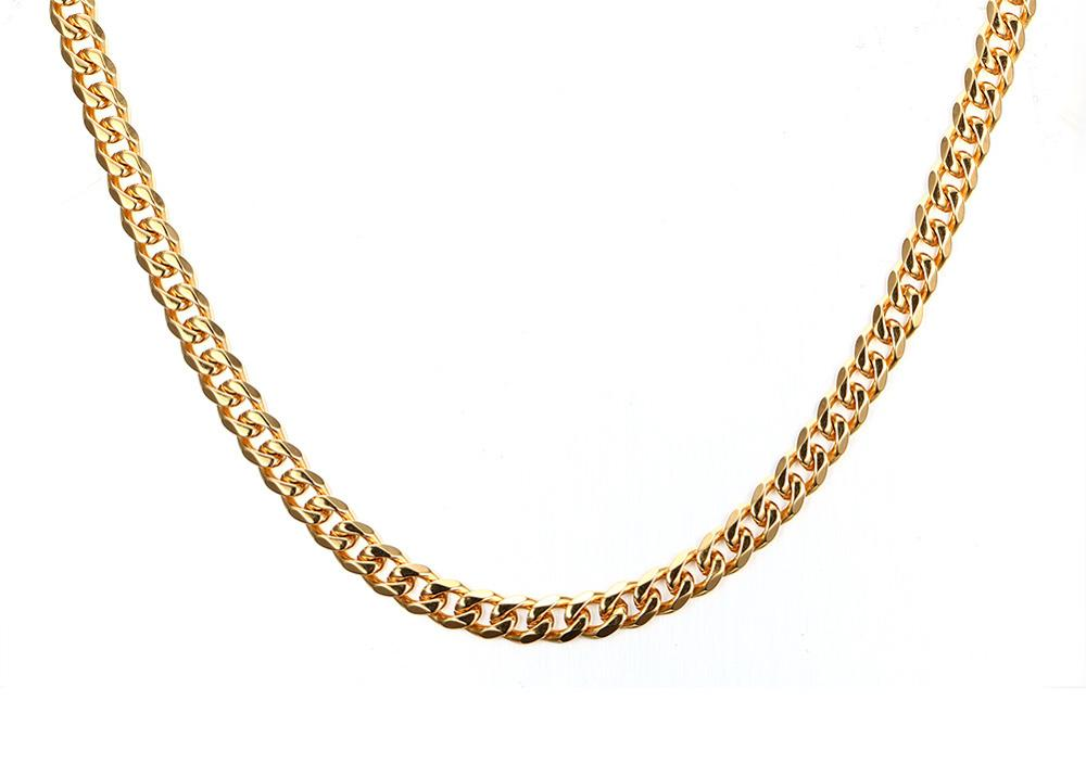 Athenaa Factory 5mm Gold Necklace New Long Gold Chain Design For ...