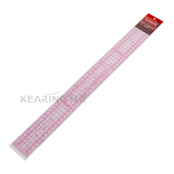 Kearing Brand Plastic Metric 50cm Pattern Grading Ruler with Clear Grids and Protractor for Sew Area # 8001