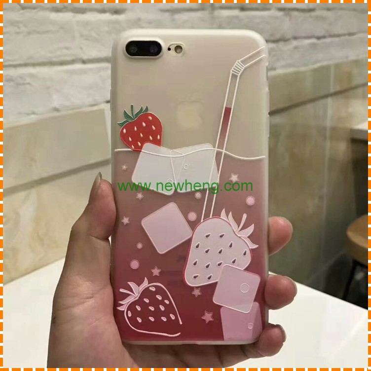 New products TPU case fresh fruit relief phone case for iphone 7 7 plus