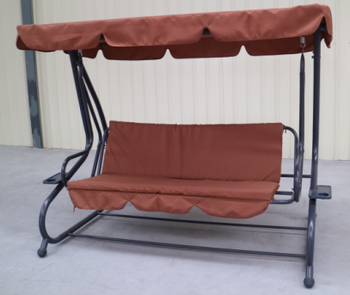 Heavy Duty Steel Frame Promotion 3 People Garden Swing Chair