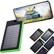 ROHS Portable fast charging wireless powerbank phone charger 10000 mah solar power banks qi wireless solar power bank 10000mah