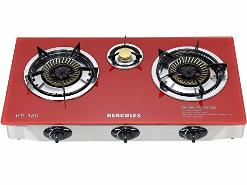 Get Quotations · Home N Kitchenware Collection Super Heavy Duty 3 Burner  Portable Gas Stove Cooktop,