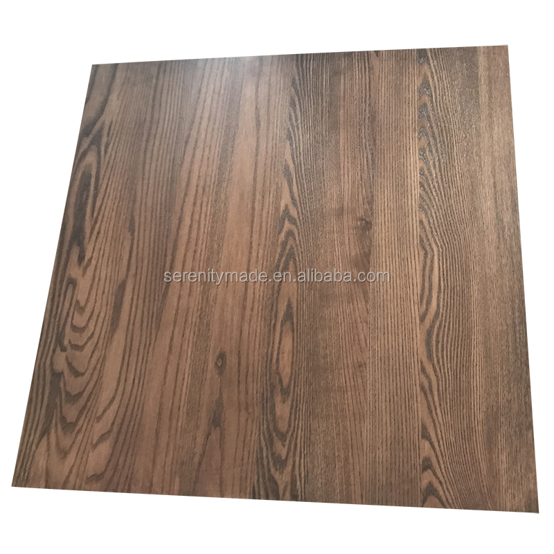 Solid Ash Wooden Dining Table Top Square Rustic Natural Timber For