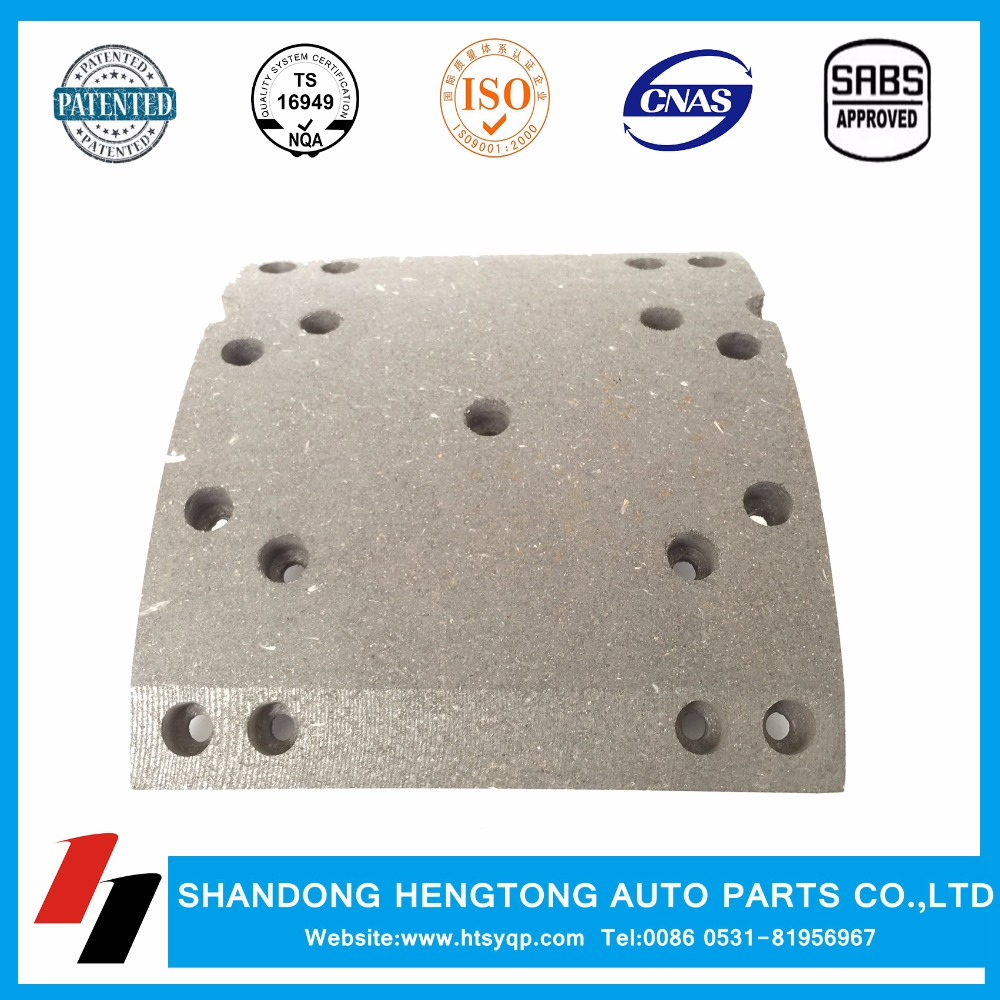 brake lining for truck 29019 OE heavy duty truck brake shoes
