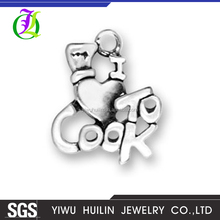 CN184874 Yiwu Huilin Jewelry Popular enjoy life I love to cook customized initial pendant