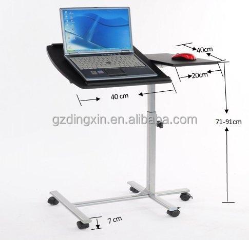 מעולה מעמד שולחן שולחן מחשב נייד מתקפל נייד עם גלגלים , שחור-שולחנות עץ TC-56