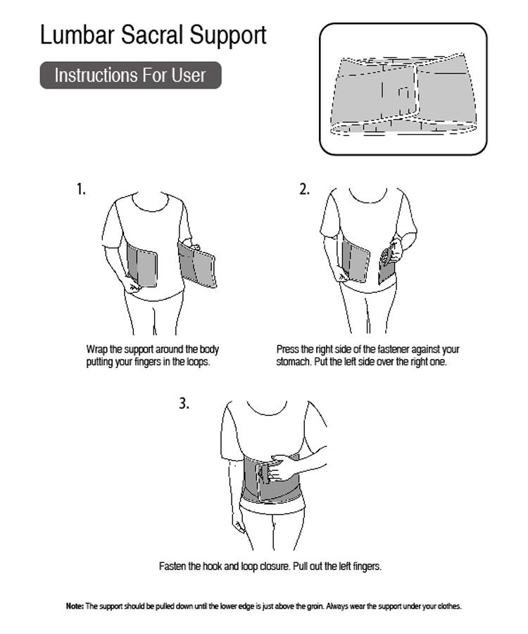 Apoio lombar Cinto de Suporte Da Cintura para Cintura Trimmer wtih CE ISO13485