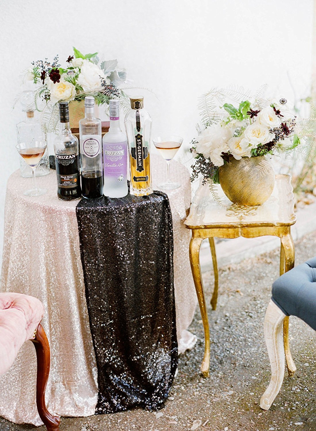 Table Cloth/Table Runner with Glitter Accents  - Pro Wedding Invites