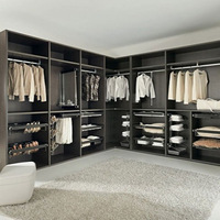 More Luxury bedroom furniture black wardrobe closet