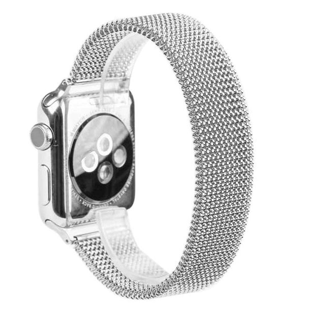 For Apple Watch Band , HP95(TM) Elasticity Milanese Magnetic Loop Stainless Steel Watch Band Strap For Apple Watch 38mm/ 42mm all Model, Replacement Watch Band (38mm, Silver)