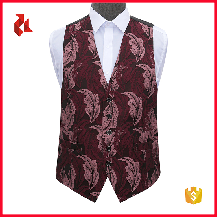 Wholesale Woven Polyester Vest Waistcoat for Party