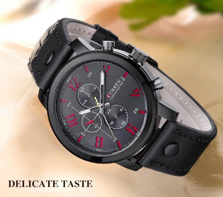 Relogio Masculino Fashion Montre Homme Reloj Hombre Quartz-Watch Curren 8192 Male Leather Wristwatches Men Curren Watches 2016