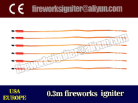 CE passed fireworks display material safe fuse 0.3m fireworks electric igniter