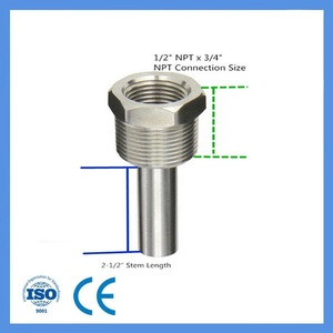 Feilong Thermocouple Thermowell Free Custom Logo (OEM) Stainless Steel Tube