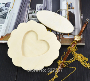 Fashion Photo Decoration Iron chain Love Heart Wooden Picture Frame