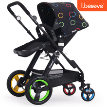 EN1888 Aurora High Quality Rolls-Royce Soft Textile Mother Baby Stroller Bike