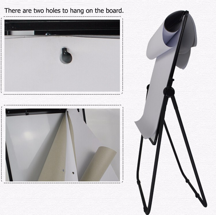 Wall Mounted Two Holes A1 Size Hanging Flip Chart Paper