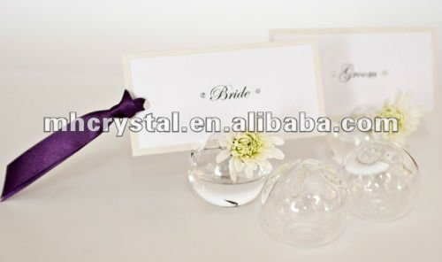 Mini Glass Vase Place Card Holders Mh 12504 Buy Wedding Favor