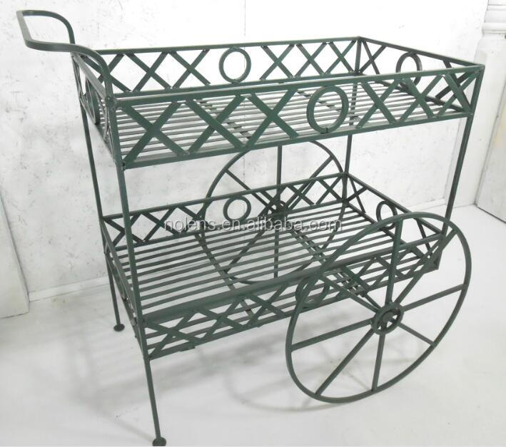 Wrought Iron X S And O Tea Cart Plant Stand