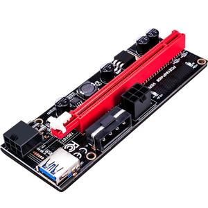 Riser 009s/pcie riser (Black King Kong) PCE164P-N08 VER009S pci-e x1 x16 riser 6 pin for video card