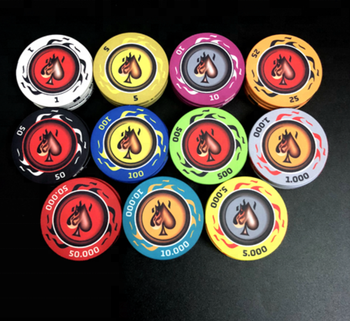 10g Qualified Ceramic Poker Chips/custom ceramic chip