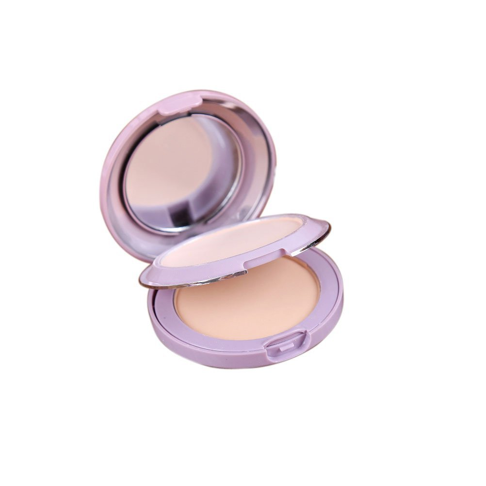 Get Quotations · Youngman Professional Pressed Powder Dry Skin Dry and Wet Powdery Cake Silky Wet Day Foundation Corrective