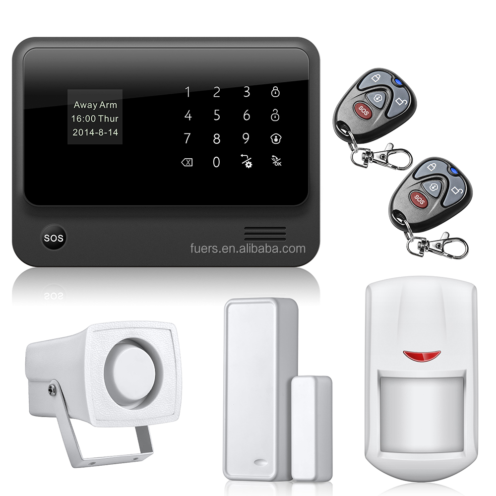 IOS Android APP Wifi+GSM Home Alarm System With Touch Screen TFT Color Display Easy Operation