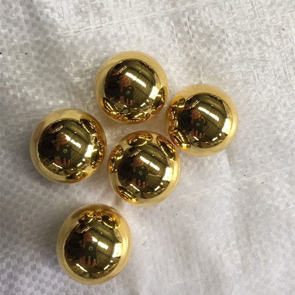 High-quality 1mm 2mm 3mm 9mm 10mm stainless steel bead plated gold balls