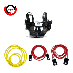 Fitness rubber bungee cords with single textile ending