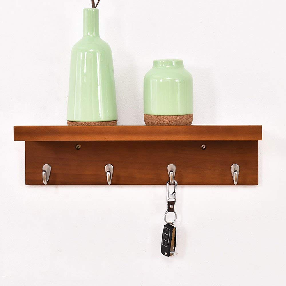 Get Quotations · Jinxin Coat Rack Shelf, Coat Rack Wall Mounted Bamboo  Wooden Hook Rack With Metal