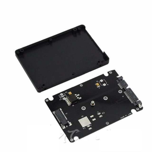 M.2 NGFF SSD to 2.5 SATA Adapter Card With 7MM Thickness Case