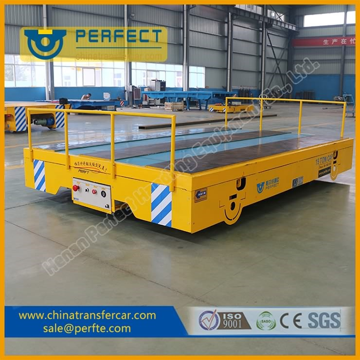Heavy Load Battery Powered Special Surface Design Motoized Transfer Trolley