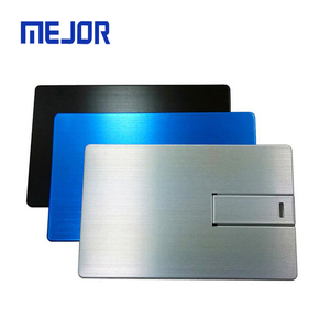 Corporate gift pendrive alloy memorias USB 16GB aluminum credit card 2 laser logo Usb business card